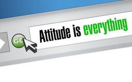 态度是一切网站标志概念 库存图片
