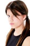 态度美丽的女孩 免版税图库摄影