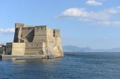 怂恿城堡Castel小山谷` Ovo -那不勒斯-意大利 免版税图库摄影