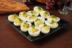 蛋沙拉开胃菜 库存图片