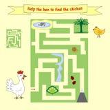 怎么哄骗家庭作业帮助发现鸡的母鸡 学龄前教育 库存照片