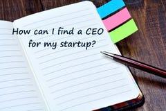 怎么在笔记本可能I找到我起始的CEO问 免版税图库摄影