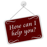 怎么能我帮助您签字 免版税图库摄影