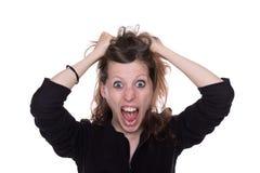 暴怒妇女 免版税库存照片