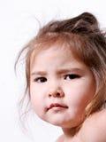 怒视的女孩一点 免版税图库摄影