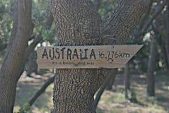 思乡病澳大利亚人在法国 库存图片