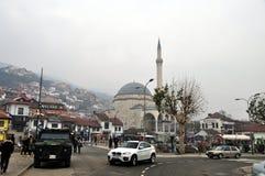 思南巴夏清真寺,普里兹伦,科索沃 免版税图库摄影