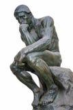 思想家-其中一个最著名的雕塑奥古斯特・罗丹 免版税库存照片
