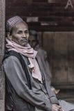 思考一个老的人的画象 免版税库存照片