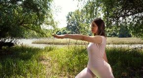 思考瑜伽的妇女 图库摄影