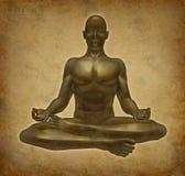 思考的凝思放松灵性瑜伽 免版税库存照片