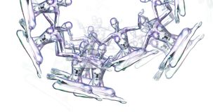 思考的女性的数字式动画 库存例证