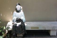 思考的雕象 免版税图库摄影