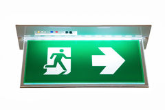 紧急出口的标志 免版税库存图片