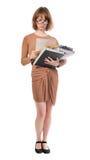 急切繁忙的妇女 免版税库存照片