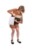 急切繁忙的妇女 免版税库存图片