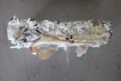 急切要求切细的纸 免版税库存照片