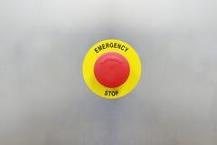 紧急刹车按钮 免版税库存图片