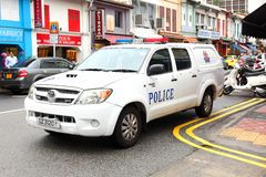 紧急情况服务新加坡警察 免版税库存照片