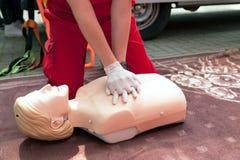 急救和CPR训练 库存图片