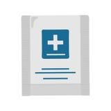 急救工具在平的设计的传染媒介例证 免版税图库摄影