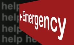 紧急标志 免版税库存照片