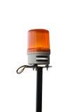 紧急汽车的橙色警报器 免版税库存照片