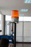 紧急汽车的橙色警报器 库存图片
