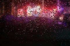 紧急状态在多雨夜 图库摄影