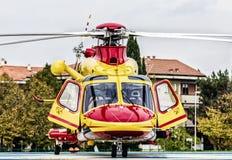 紧急状态的直升机 库存图片