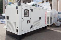 紧急电力的流动柴油发电器 库存图片