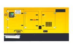 紧急电力的黄色辅助柴油发电器 免版税库存照片