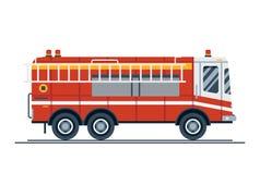 紧急车消防车卡车 向量例证