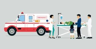 紧急车 向量例证