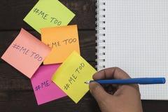 性丑闻的概念 在贴纸的人文字2018年 免版税库存图片