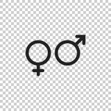 性别标志传染媒介象 人和woomen概念象 免版税库存图片