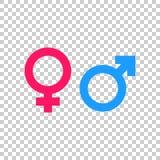 性别标志传染媒介象 人和woomen概念象 免版税库存照片
