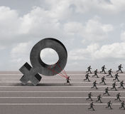 性别歧视歧视 库存照片