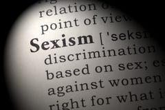 性别歧视的定义 库存照片