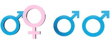 性别竞争 免版税库存照片