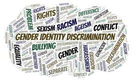 性别身分歧视-歧视的类型-词云彩 库存例证
