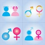 性别simbols 图库摄影