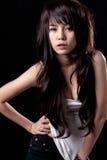 性感亚裔的女孩 免版税图库摄影