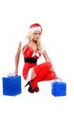 性感圣诞节的辅助工 免版税库存照片