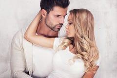 性感夫妇的纵向 免版税库存图片