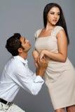 性感夫妇种族的爱 免版税图库摄影