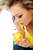 性感女性的桃子 免版税库存照片