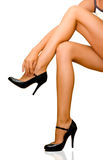 性感女性的行程 免版税库存照片
