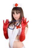 性感护士的纵向 图库摄影