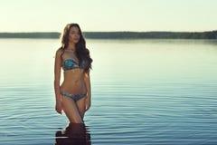 性感比基尼泳装的女孩 免版税库存图片